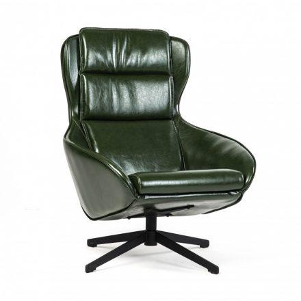 Berg fotel sötétzöld öko bőr