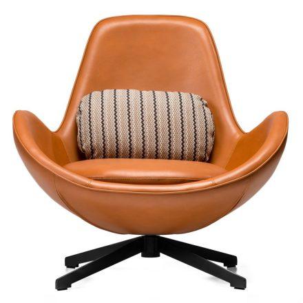 Nor design fotel - fekete alap